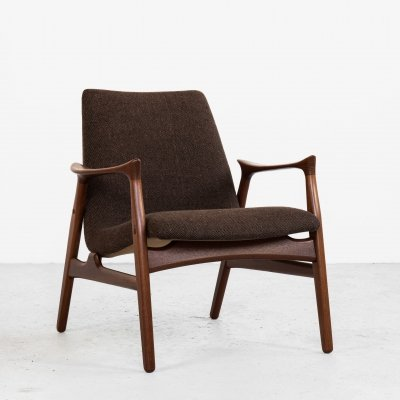 Midcentury Danish armchair in teak by Arne Hovmand-Olsen for Mogens Kold, 1950s