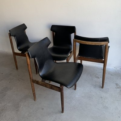 Set of 4 Rosewood Dining Chairs by Inger Klingenberg for Fristho, 1960s