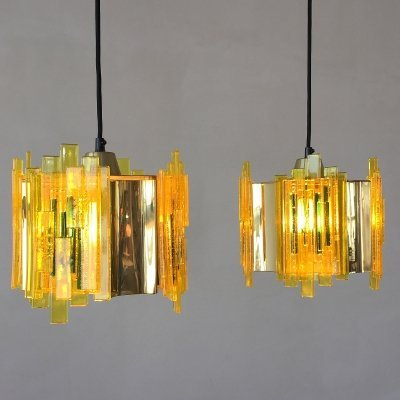 Set of hanging lamps by Claus Bolby for Cebo Industri Denmark, 1970s