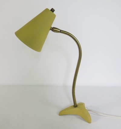 Italian desk lamp with brass details, 1950s