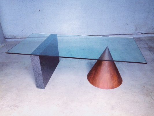 Architectural Dining Table by Lella & Massimo Vignelli for Casigliani, 1984