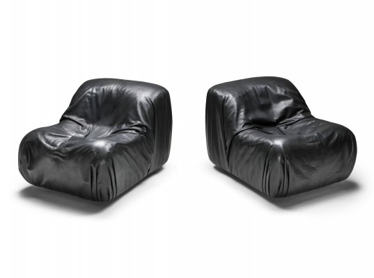 De Sede DS 41 Lounge Chair in High Quality Black Leather, 1970's