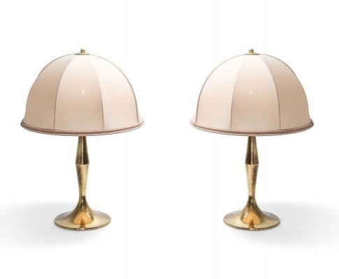 Brass Pair of Lamps, 1970s