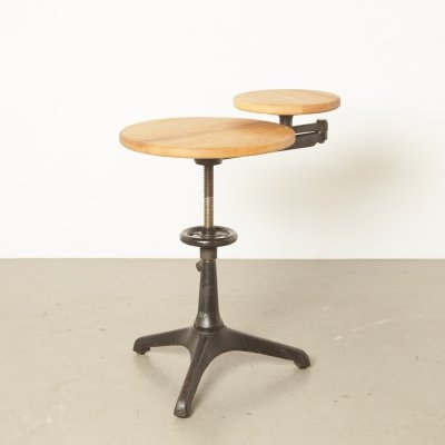 Carl Zeiss cast iron side table for Jena