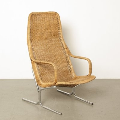 Wicker / Rattan armchair 514 by Dirk van Sliedregt for Gebroeders Jonkers, 1960s