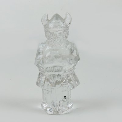 Pukeberg Crystal Swedish Viking Ornament, 1970s