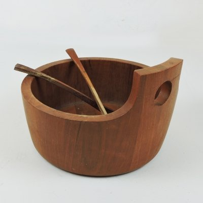 Vintage Danish Teak Salad Bowl by Jens Quistgaard for Nissen