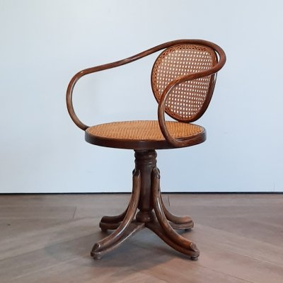 No. 5501 bentwood swivel chair from ZPM Radomsko, 1970s