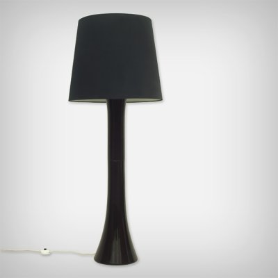 Huge German Black Ceramic Floor Lamp from Kaiser Leuchten, 1960s