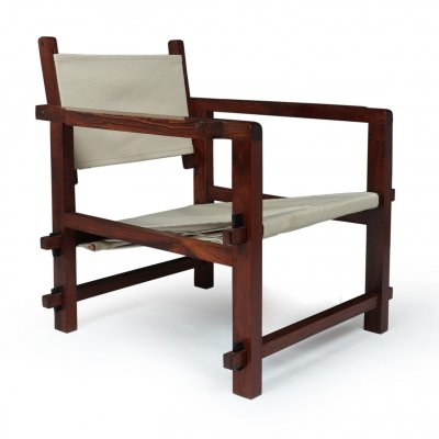 Rosewood Sling Chair from Brazil, c1960