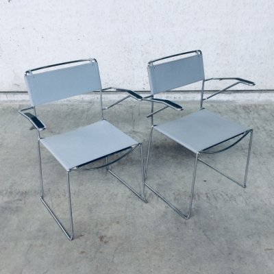 Pair of Post Modern Design Dining Chairs by Giandomenico Belotti for Alias, 1980's