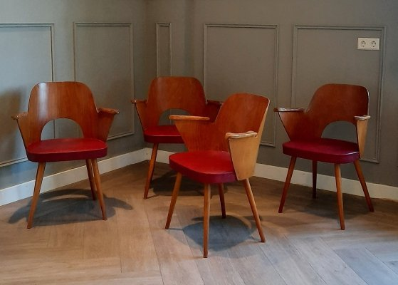 Set of 4 Chairs by Oswald Haerdtl for Thonet / Ton, 1950s