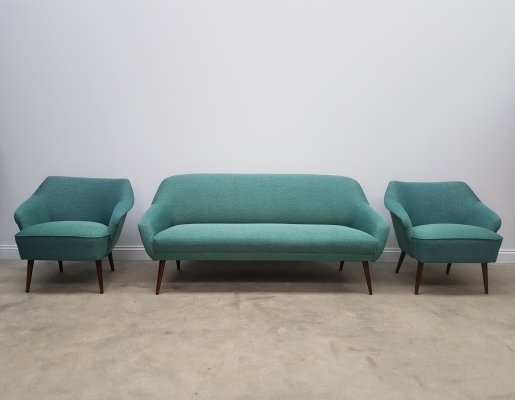3 + 1 + 1 Mid Century Danish Living Room Set, 1960s