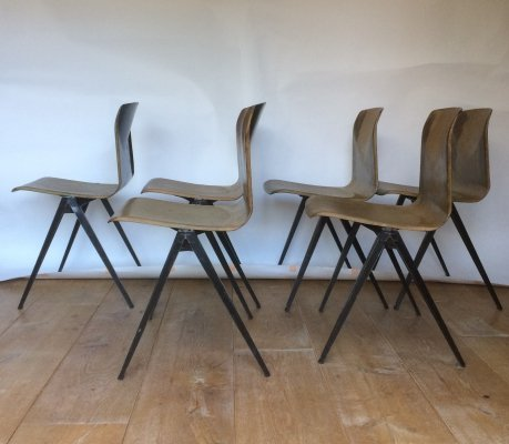 Set of 6 Thur Op Seat S22 Galvanitas Chairs, 1960s