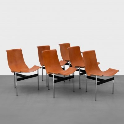 Set of 6 T-Chairs by Katavolos, Kelley & Littell for ICF, 1952