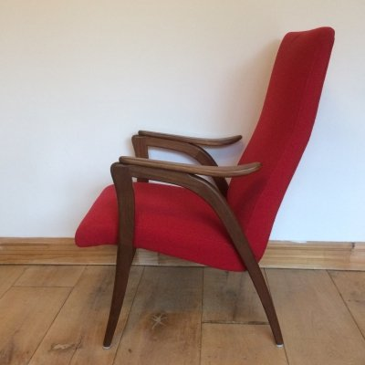 Vintage Dutch Teak Armchair, 1960s
