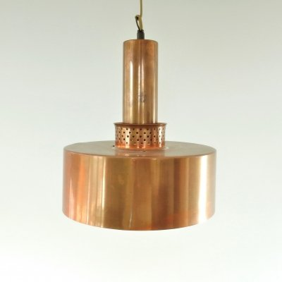 T292 copper pendant lamp by Hans-Agne Jakobsson for Markaryd, Sweden 1960's