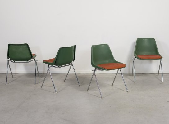 Robin Day set of 4 chairs produced by Overman, 1970's