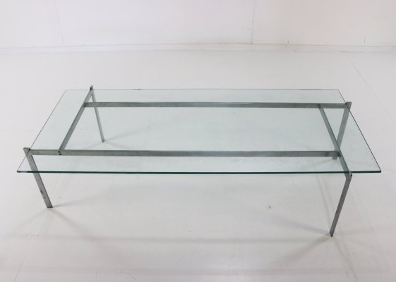 Minimalistic steel coffee table, 1960s