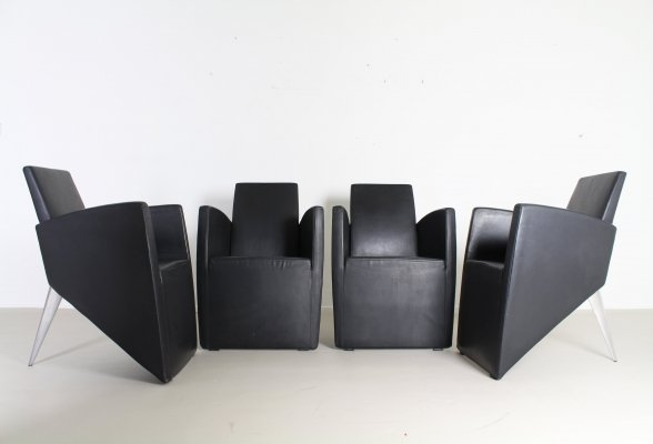 Set of 4 Prototype J. lounge chairs by Philippe Starck for Driade, 1980s