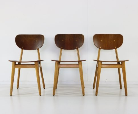 Set of 3 SB-11 dining chairs by Cees Braakman for Pastoe, 1960s
