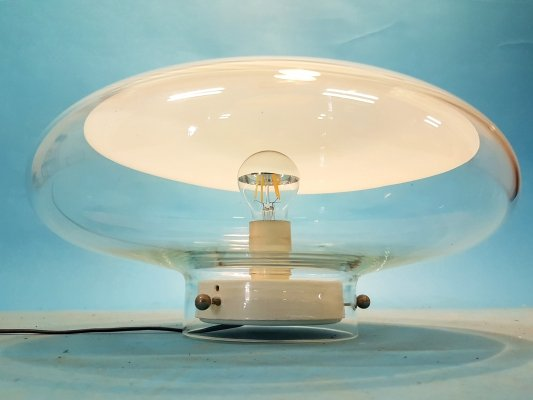 Large blown glass ceiling lamp, 1960s