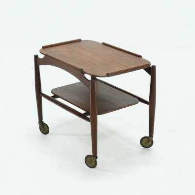 Mid Century Teak Serving Trolley, Danish Design 1960s