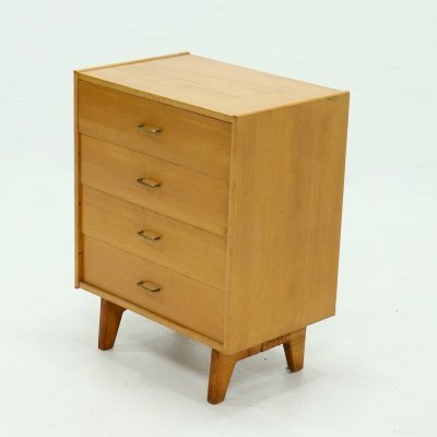 Vintage Birch Drawer Cabinet, 1950s