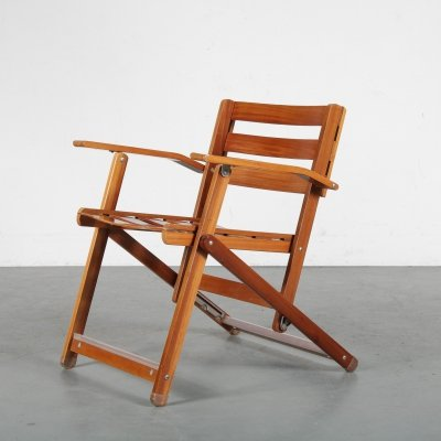 1970s Rare folding chair by Ico Parisi for Fratelli Reguitti, Italy