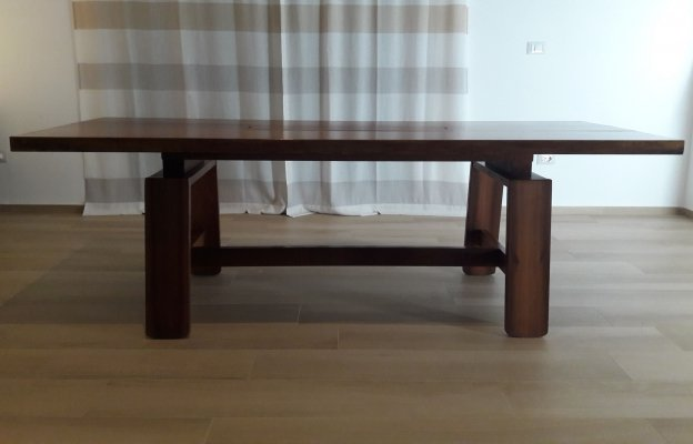 Dining Table with removable central tray by Silvio Coppola for Bernini, Italy