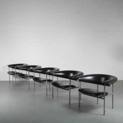 1950s 'Meander Gamma' chairs by Rudolf Wolf for Gaasbeek en Van Tiel, Netherlands