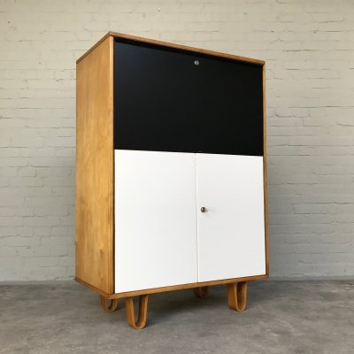 Pastoe CB07 Black & White Combex Series cabinet in Birch by Cees Braakman, 1953
