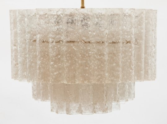 Doria Glass Tube Chandelier, Germany 1960s