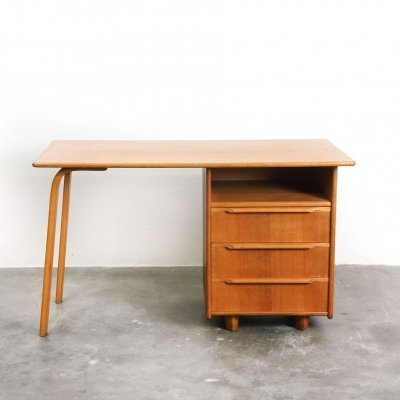 Eikenserie writing desk by Cees Braakman for Pastoe, 1950s