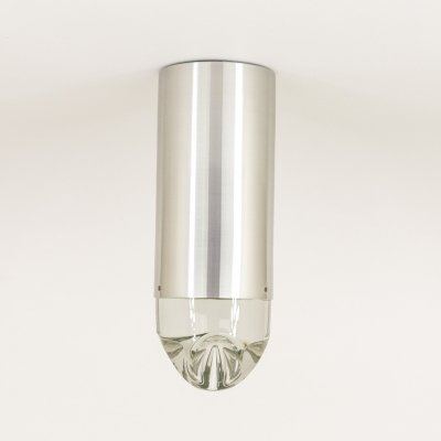 8 x 'Model P-1415' Ceiling light with solid glass by RAAK Amsterdam, 1970s