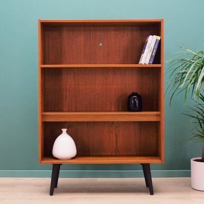 Danish design bookcase in teak with lighting, 1970s