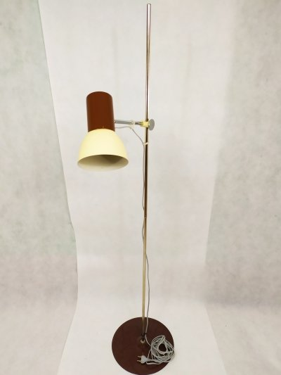 Retro brown floor lamp, 1960s