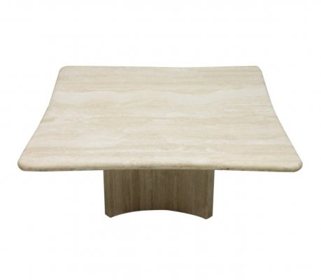 Travertine Coffee Table, Italy 1970s