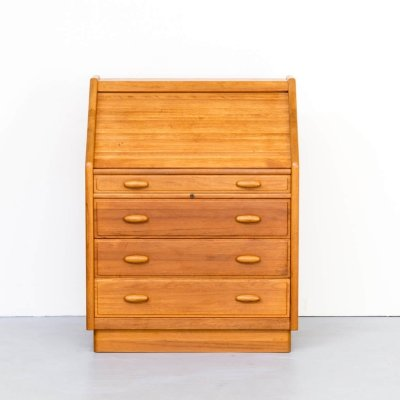 70s teak secretaire with desk for Dyrlund