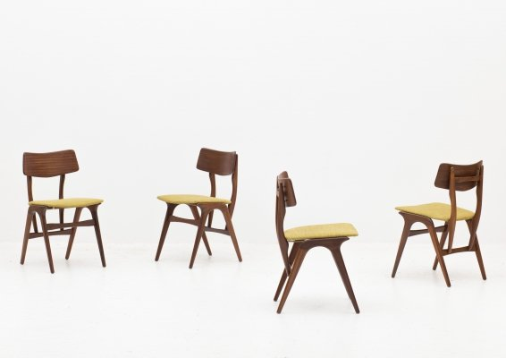 Set of 4 dining chairs by Louis van Teeffelen for Wébé