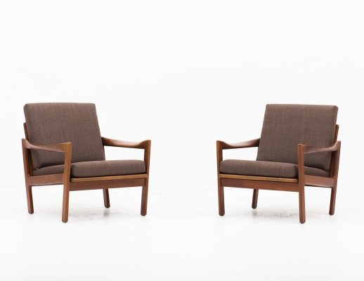Set of 2 easy chairs by Illum Wikkelso for Niels Eilersen, 1950s