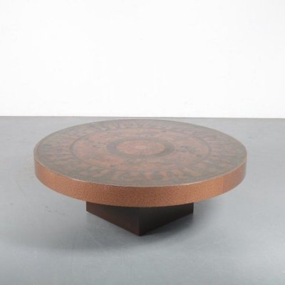 1970s Etched copper coffee table from Italy