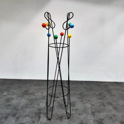 Mid century coloured atomic coat stand by Roger Feraud, 1950s