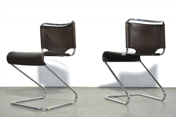 Set of 2 'Biscia' dining chairs by Pascal Mourgue for Steiner, France 1969