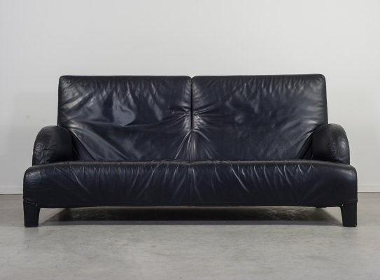 Italian design leather sofa by Antonio Citterio for B&B Italia, 1980s