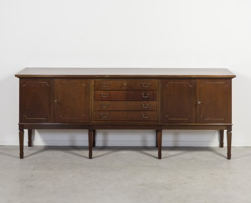 Mahogany sideboard in a neoclassical style, England 1950s
