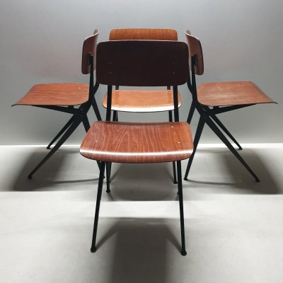 Industrial pagwood compass chair model s201 by Ynske Kooistra for Marko, 1960s