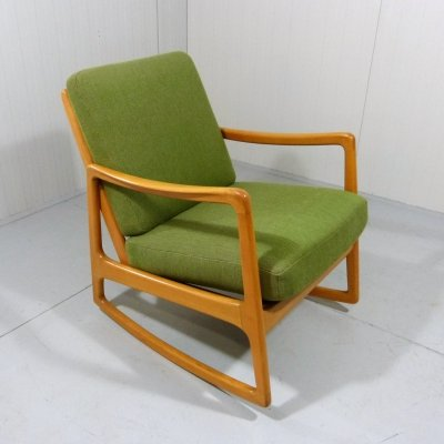 Rocking chair model 120 by Ole Wanscher for France & Daverkosen, Denmark