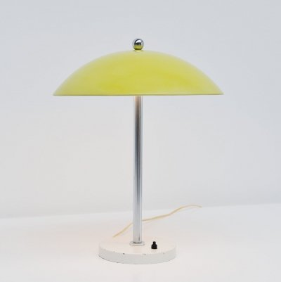 Wim Rietveld yellow mushroom table lamp for Gispen, 1950