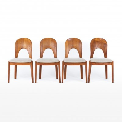 Set of 4 dining chairs by Niels Koefoed for Hornslet Møbelfabrik, 1960s